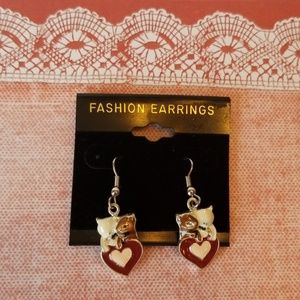 Jewelry - KITTY ❤ DANGLE EARRINGS